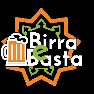 Logo con scritte bianche della birreria Birra e Basta