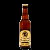 Bottiglia di birra con etichetta color giallo